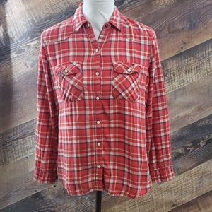 FOREVER 21 Red plaid flannel shirt SZ S